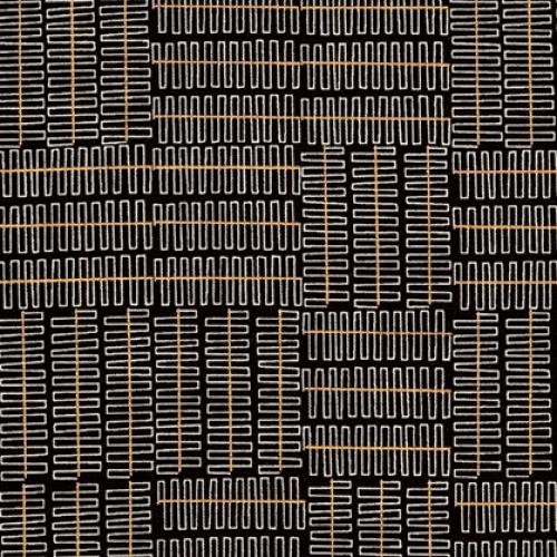 Skinny - SK3482- 3/4 yds - KAUFMAN - Wayside - Black