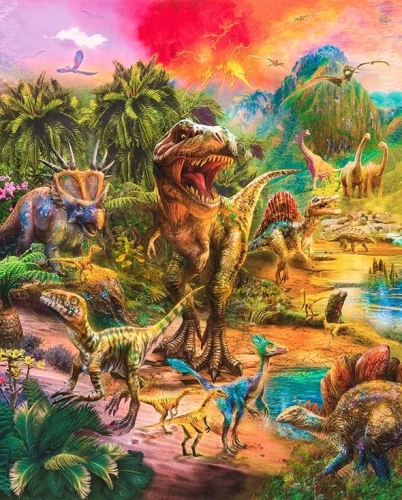 KAUFMAN - Picture This - Dinosaurs - PANEL - PL48