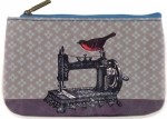 Clearance - Bird on Sewing Machine/Scissor Pouch - Small Tacony