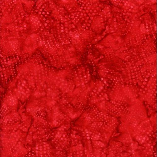ISLAND BATIK - Wavy Dots - Cherry - K30039-