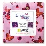 Benartex - Butterfly Jewel Berry 5x5 Pack