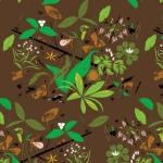 BIRCH FABRICS - Bark Cloth - Charley Harper - Spring Wildflowers