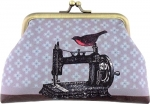 Clearance - Bird on Sewing Machine/Scissor Coin Purse Tacony