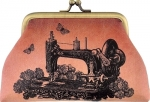 Floral Vintage Sewing Machine Coin Purse Tacony