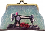 Roses On Sewing Machine Coin Purse Tacony