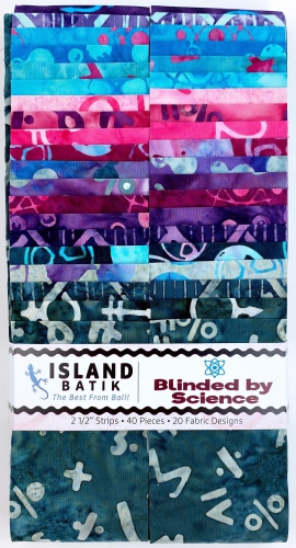 Island Batiks - Blinded by Science 2.5 Inch Strip Pack
