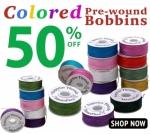 Mixed color bobbins 12 count