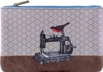 Clearance - Bird on Sewing Machine Pouch - Medium Tacony