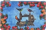 Clearance - Floral Birds Sewing Machine Pouch - Medium Tacony