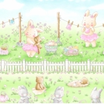 TIMELESS TREASURES - Bunnies - Friendship Blossom - Multi