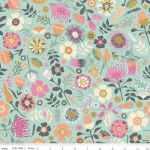 RILEY BLAKE - Meadow Lane - Main Floral - Mint