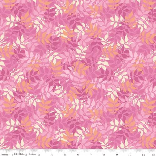RILEY BLAKE - Meadow Lane - Leaves - Pink