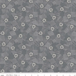 RILEY BLAKE - Meadow Lane - Scribbled Floral - Gray