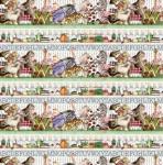 RILEY BLAKE - Hungry Animal Alphabet - Border Stripe