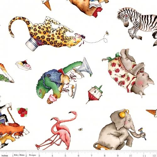 RILEY BLAKE - Hungry Animal Alphabet - Animal Toss - Off White