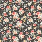 RILEY BLAKE - Gingham Gardens - Floral - Charcoal
