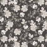 RILEY BLAKE - Gingham Gardens - Lined Floral - Charcoal