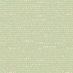 RILEY BLAKE - Gingham Gardens - Text - Green