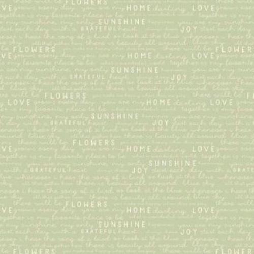 RILEY BLAKE - Gingham Gardens - Text - Green