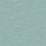 RILEY BLAKE - Gingham Gardens - Text - Teal