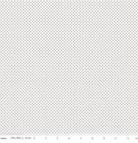 RILEY BLAKE - Kisses On White Color - Gray