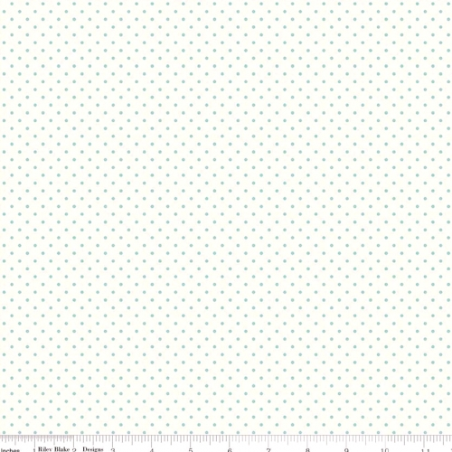 RILEY BLAKE - Swiss Dots - Small - Aqua