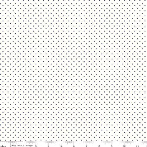 RILEY BLAKE - Swiss Dots - Small - Navy