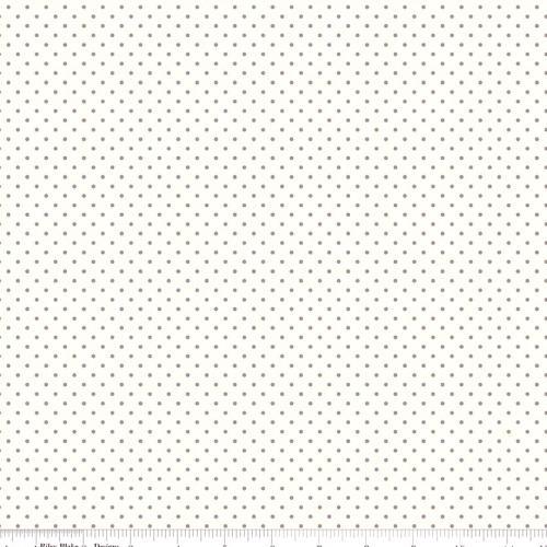 RILEY BLAKE - Swiss Dots - Small - Gray