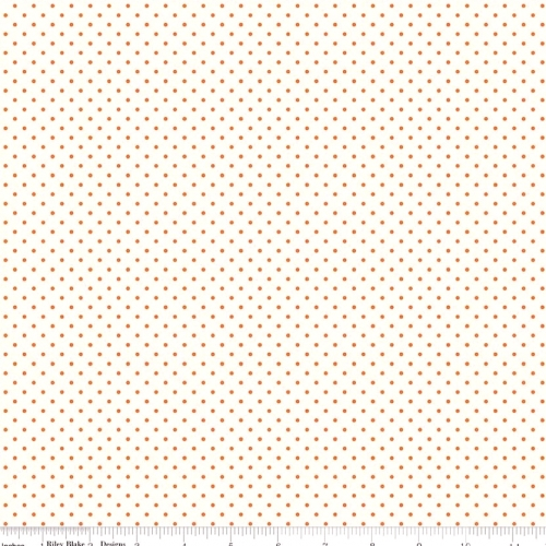RILEY BLAKE - Swiss Dot - Small - Orange - #2602-