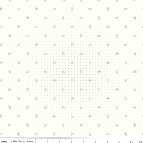RILEY BLAKE - Bee Backgrounds - Daisy - Teal