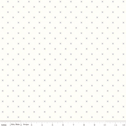 RILEY BLAKE - Bee Backgrounds - Cross Stitch - Blue