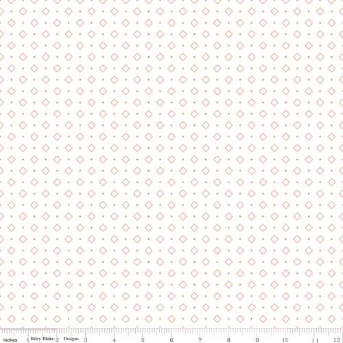 RILEY BLAKE - Bee Backgrounds - Diamonds - Coral