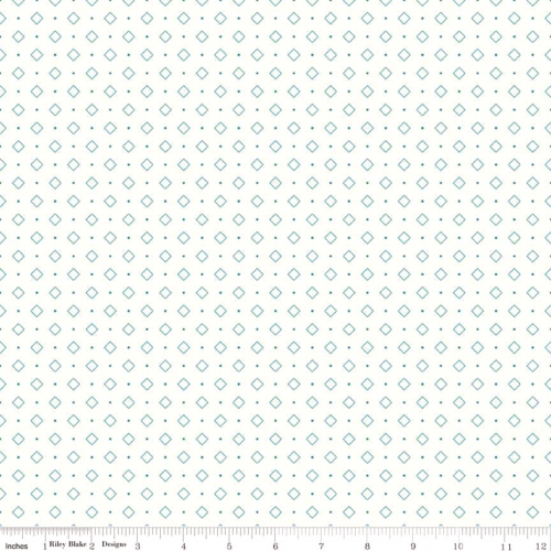 RILEY BLAKE - Bee Backgrounds - Diamond - Turquoise