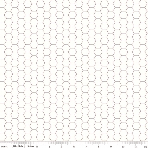RILEY BLAKE - Bee Backgrounds - Honeycomb - Gray
