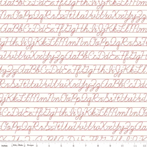 RILEY BLAKE - Bee Backgrounds - Penmanship - Red