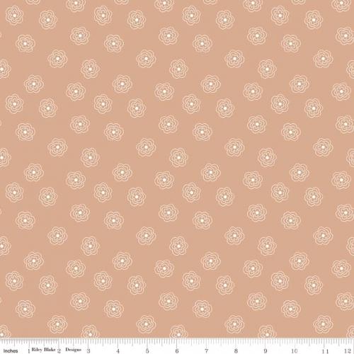 RILEY BLAKE - Bee Basics by Lori Holt - Blossom - Nutmeg