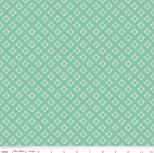 RILEY BLAKE - Bee Basics by Lori Holt - Stitched Flower - Teal