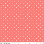 RILEY BLAKE - Bee Basics by Lori Holt - Basic X - Coral
