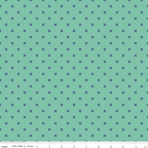 RILEY BLAKE - Bee Basics by Lori Holt - Basic X - Teal