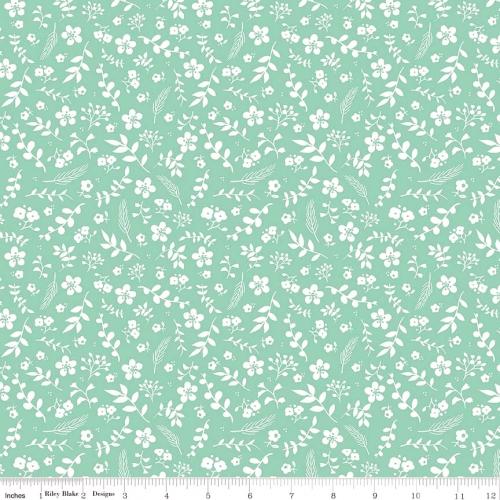 RILEY BLAKE - Prairie - Floral Teal