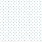 RILEY BLAKE - Swiss Dots on White - Aqua