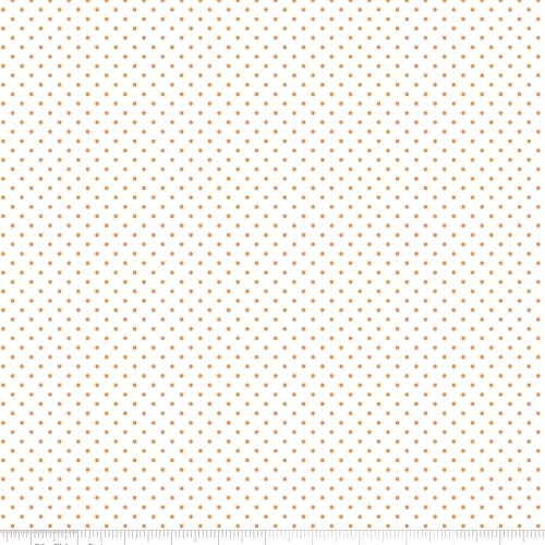 RILEY BLAKE - Swiss Dots White - Orange - #2600-