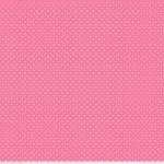 RILEY BLAKE - White Swiss Dots on Hot Pink