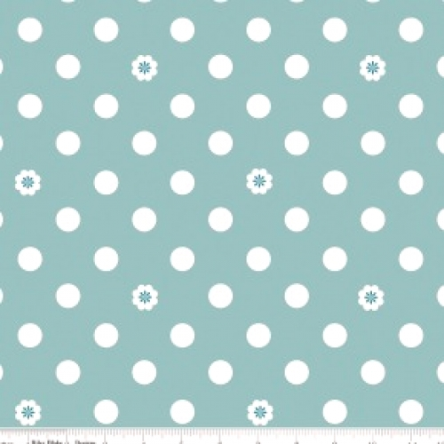 RILEY BLAKE - Hello, Lovely! - Dots Aqua - #751
