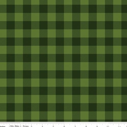 RILEY BLAKE - Christmas Delivery - Plaid - Green
