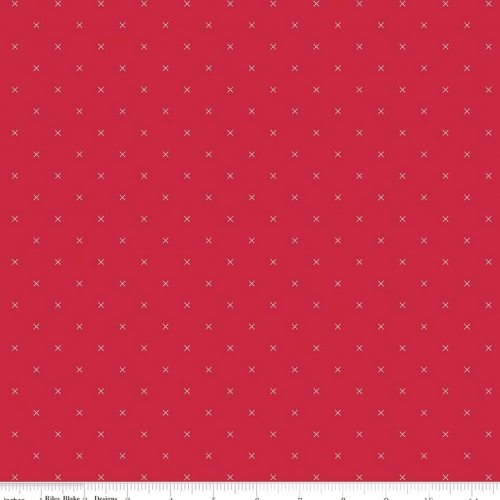 RILEY BLAKE - Bee Cross Stitch by Lori Holt - Jazzberry Jam