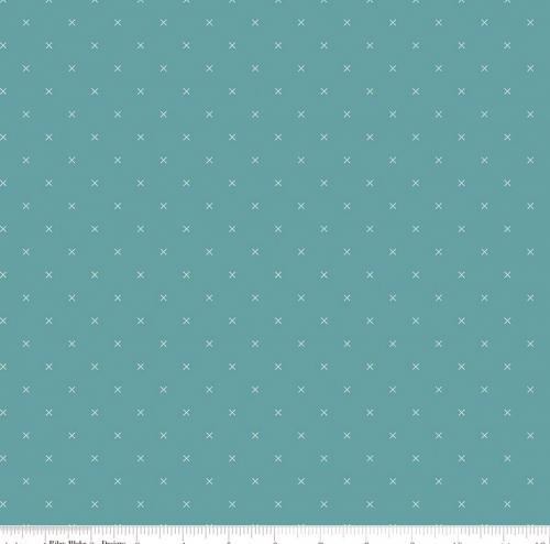 RILEY BLAKE - Bee Cross Stitch by Lori Holt - Riley Teal