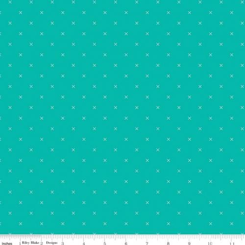 RILEY BLAKE - Bee Cross Stitch by Lori Holt - Vivid