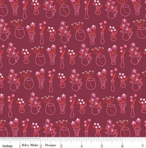 RILEY BLAKE - Wild Bouquet - Vases - Merlot