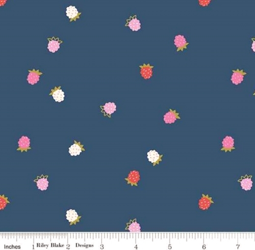 RILEY BLAKE - Wild Bouquet - Raspberries - Navy